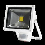 LED reflektor Troll 20W 4000K s čidlem bílá McLED