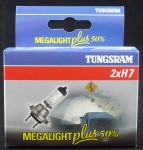 autožárovka 12V H7 55W + 50% MEGA LIGHT sada 2 ks