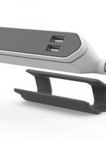 přívod prodlužovací POWERCUBE POWERBAR USB 2Z 1,5m 2 ploché zásuvky, 2 USB porty, šedá