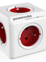 kostka rozbočovací POWERCUBE EXTENDED RED 5 zásuvek, 1,5m prodlužovací kabel