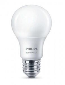 Philips LED žárovka SceneSwitch 8/5/2W 827 E27 stmívatelná