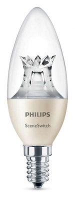 Philips LED žárovka SceneSwitch 5,5/4/2W E14 svíčka stmívatelná